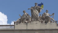 Stock Video Footage of sculpture on the roof of University of Franca