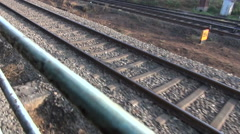 Indian railway background in motion, South India Stock Footage