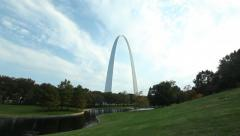Stock Video Footage of St. Louis Gateway Arch Scenic Pan