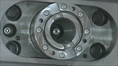The rotation of the machine parts Stock Footage