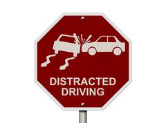 No distracted driving sign Piirros