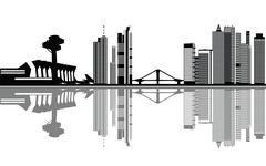 Frankfurt city skyline Stock Illustration