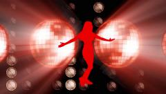 dancer animation  color full background - stock footage