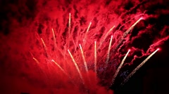 HD USA Fireworks WITH SOUND Stock Footage