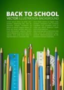 Mass pencils Stock Illustration