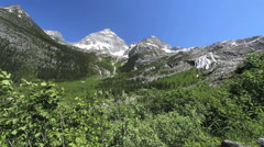 British Columbia Glacier NP Columbia Mountains distant wide view Stock Footage