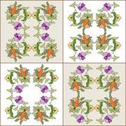 ottoman motifs design series eighty four - stock illustration