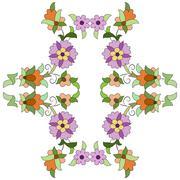 ottoman motifs design series eighty two - stock illustration