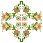 ottoman motifs design series eighty seven - stock illustration