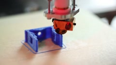 3d printer prints the details of mechanical devices Stock Footage
