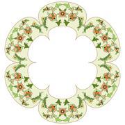 ottoman motifs design series eighty six - stock illustration