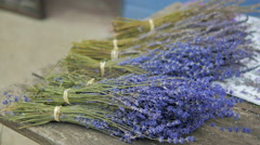 Dried Lavender Bunches Stock Footage