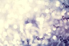 butterflies and light abstract background - stock illustration
