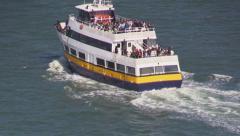 Golden Gate Bridge Tour Boat Stock Footage