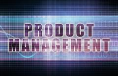 product management on a tech business chart art - stock illustration