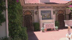 Hearst Castle Cottage Casa del Mar Exterior View Stock Footage
