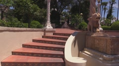 Hearst Castle Casa del Mar View Stock Footage