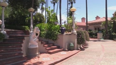 Hearst Castle Casa del Mar Stock Footage
