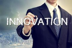 business man with innovation concept - stock photo