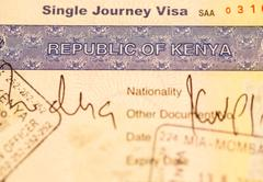 kenya visa - stock photo