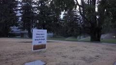 Capitol Park drought Stock Footage