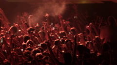 Crowd Concert Fans Cheering Audience at Music Show Coachella 4K Slow Motion Stock Footage