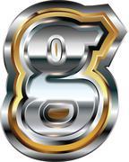 Fancy font letter g Stock Illustration
