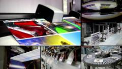 Print montage video wall background Stock Footage
