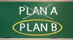 plan b on a chalk board - stock photo