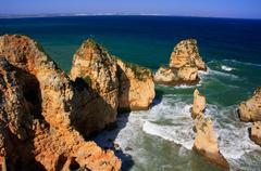 Ponta de piedade in lagos, algarve region, portugal Stock Photos