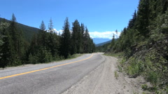 British Columbia Monashee Mountains road Stock Footage