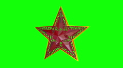 Christmas Star. Christmas toys. Green background. Loop. - stock footage
