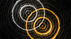 Multi Color Vertical Concentric Circles Stock Footage