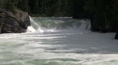 British Columbia Mount Robson Overlander Falls Stock Footage