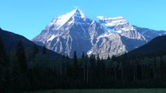 British Columbia Mount Robson peak - stock footage