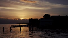 Bocas del Toro sunset timelapse Stock Footage