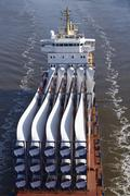 beldorf (germany) - cargo vessel at kiel canal (retouched) - stock photo