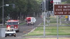 Paramedics, CAPITOL OF CALIFORNIA Stock Footage