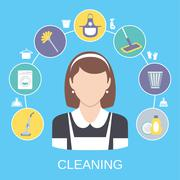 Cleaning Concept - stock illustration