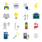 Set of Electricity Icons - stock illustration