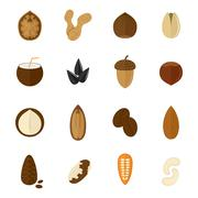 Set of nuts icons Stock Illustration