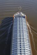 beldorf (germany) - general cargo ship at kiel canal (retouched) - stock photo
