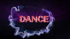 Dance Text Stock Footage