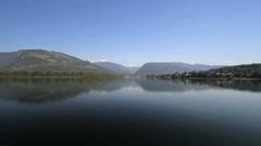 British Columbia Revelstoke Colombia River vista Stock Footage