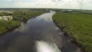 Stock Video Footage of St Lucie River Aerial View