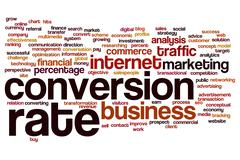 conversion rate word cloud - stock illustration