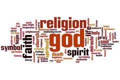 god word cloud - stock illustration