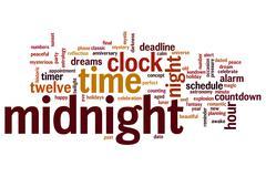 midnight word cloud - stock illustration