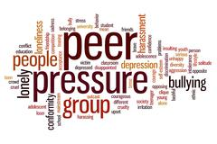 peer pressure word cloud - stock illustration