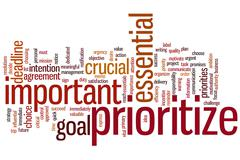 Stock Illustration of prioritize word cloud